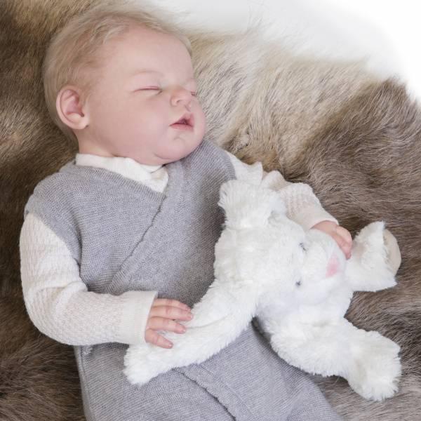 Newborn omslag sparkebukse lysegrå