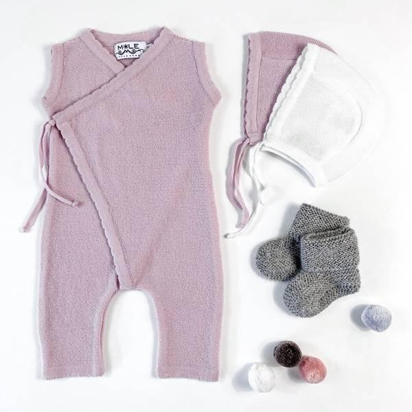 Newborn omslag sparkebukse lyserosa