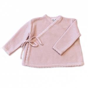 Bilde av Newborn omslagsjakke i ull lyserosa